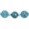 Shamballa Beads Turquoise 8In Strand